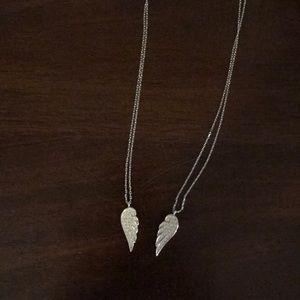 Swarovski Angel Wings Double Necklace